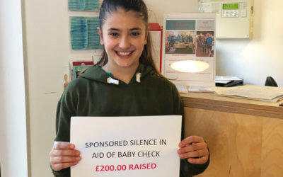 Ayesha Raises £200 for Baby Check Bath!