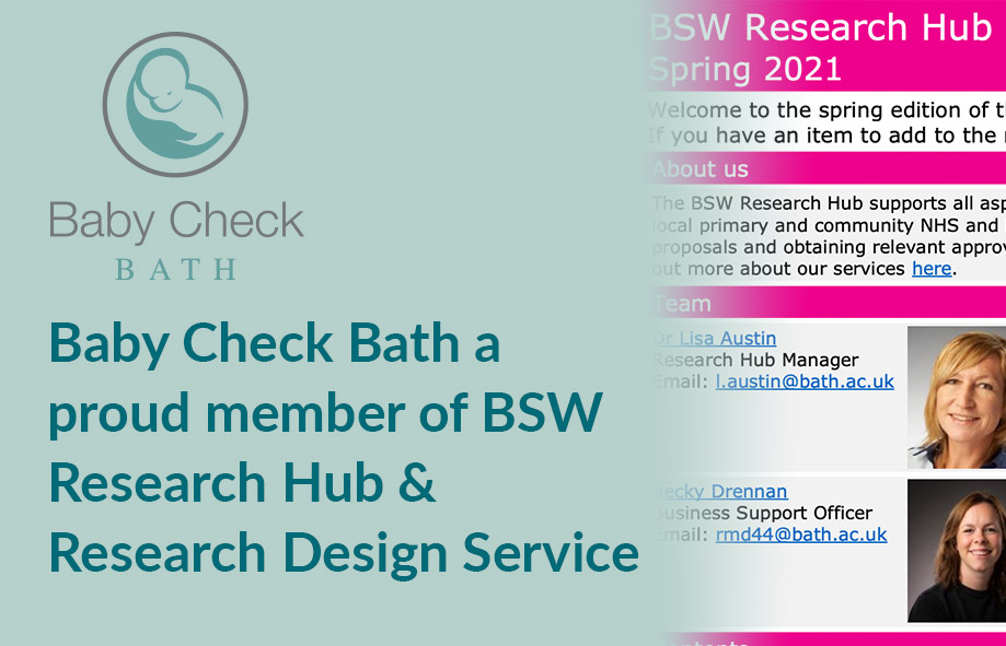 Baby Check Bath a proud member of BSW Research Hub & Research Design Service